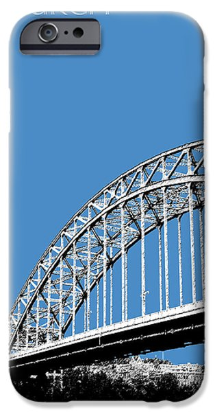 Architecture Digital iPhone Cases - Pittsburgh Skyline 16th St. Bridge - Slate iPhone Case by DB Artist
