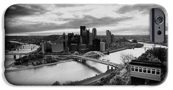 Heinz Field iPhone Cases - Pittsburgh Skyline1 iPhone Case by Emmanuel Panagiotakis