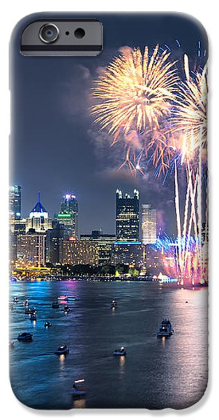 Pittsburgh the 4th  iPhone Case by Emmanuel Panagiotakis