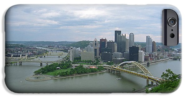 Allegheny iPhone Cases - Pittsburgh - View of the Three Rivers iPhone Case by Frank Romeo