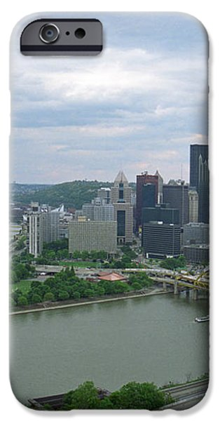 Pittsburgh - View of the Three Rivers iPhone Case by Frank Romeo