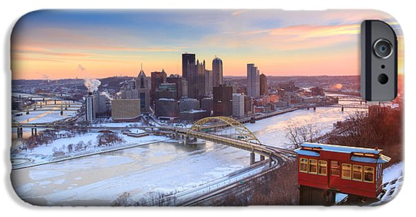 Heinz Field iPhone Cases - Pittsburgh Winter 2 iPhone Case by Emmanuel Panagiotakis