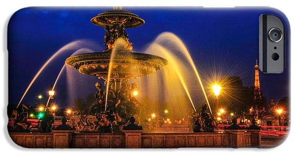 Op iPhone Cases - Place De La Concorde iPhone Case by Midori Chan