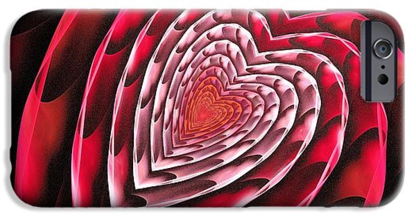 Abstracts iPhone Cases - Place in Your Heart iPhone Case by Anastasiya Malakhova