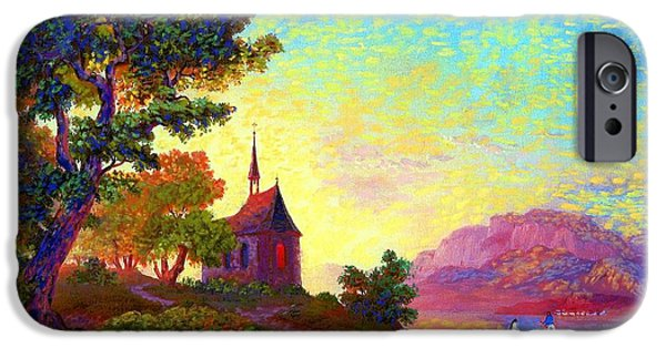 Chapels iPhone Cases - Place of Welcome iPhone Case by Jane Small
