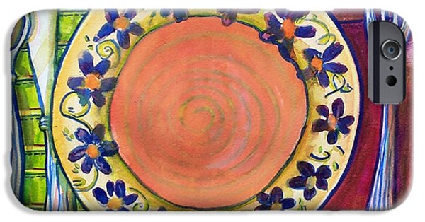 Plate iPhone Cases - Place Setting Art  iPhone Case by Blenda Studio