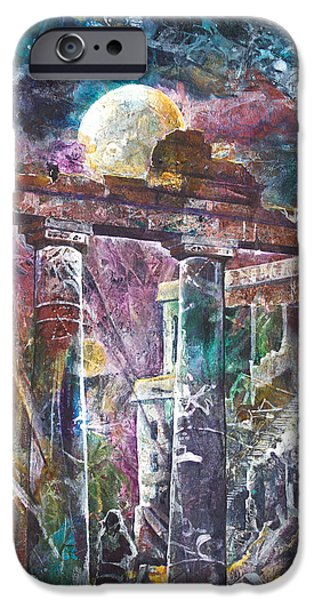 Ruin Mixed Media iPhone Cases - Places of Power Timeless iPhone Case by Patricia Allingham Carlson