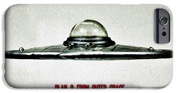 Science Fiction Photographs iPhone Cases - Plan 9 From Outer Space iPhone Case by Benjamin Yeager