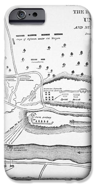 Plan of the Battle of Saratoga October 1777 iPhone Case by American School