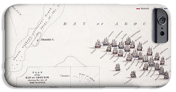 Geographic iPhone Cases - Plan of the Battle of the Nile iPhone Case by Alexander Keith Johnston