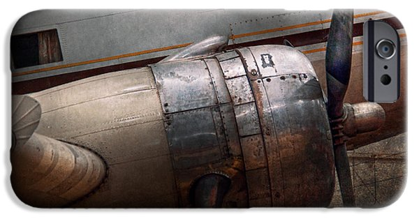 Tan iPhone Cases - Plane - A little rough around the edges iPhone Case by Mike Savad