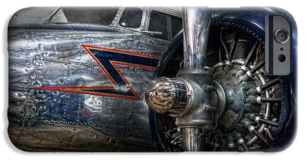 Suburbanscenes iPhone Cases - Plane - Hey fly boy  iPhone Case by Mike Savad