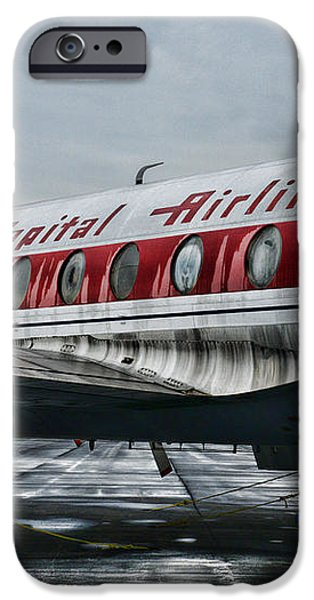 Plane Obsolete Capital Airlines iPhone Case by Paul Ward