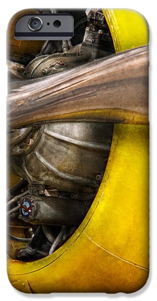 Plane - Pilot - Prop - Twin Wasp iPhone Case by Mike Savad