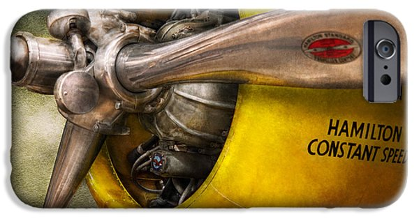 Rotate iPhone Cases - Plane - Pilot - Prop - Twin Wasp iPhone Case by Mike Savad