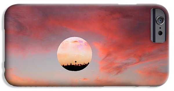 Amazing Sunset iPhone Cases - Planet and Sunset iPhone Case by Augusta Stylianou
