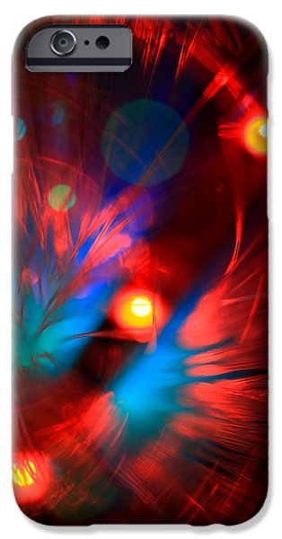 Abstract Digital Photographs iPhone Cases - Planet Caravan iPhone Case by Dazzle Zazz