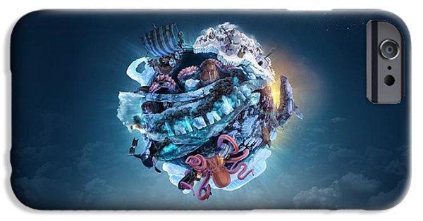 Robert Palmer iPhone Cases - Planet Inlandsis iPhone Case by Robert Palmer