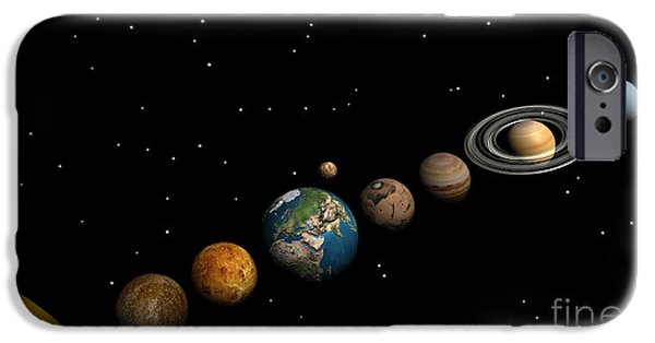 Concept iPhone Cases - Planets Of The Solar System iPhone Case by Elena Duvernay