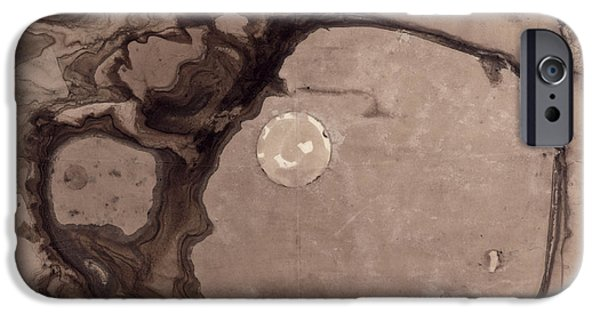 Abstract Expressionist Drawings iPhone Cases - Planets iPhone Case by Victor Hugo