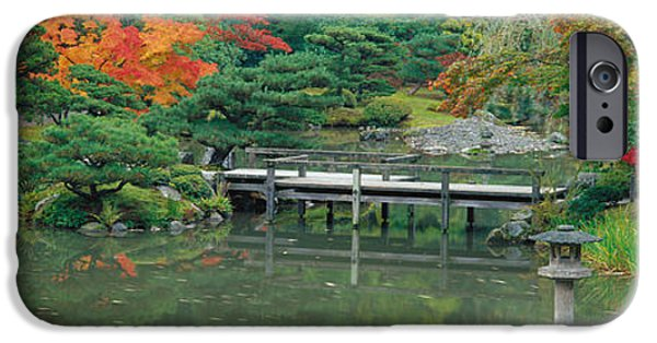 Pathway iPhone Cases - Plank Bridge, The Japanese Garden iPhone Case by Panoramic Images