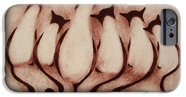 Snake Reliefs iPhone Cases - Planning the Revolution iPhone Case by Suzette Broad