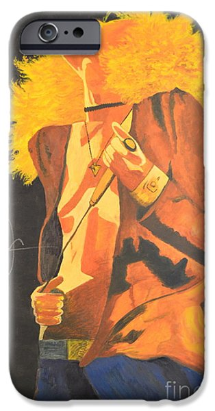 Robert Plant Paintings iPhone Cases - Plant II iPhone Case by Stuart Engel