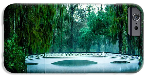 Rainy Day iPhone Cases - Plantation Bridge iPhone Case by Perry Webster