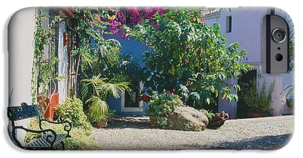 Malaga iPhone Cases - Plants At A House, Marbella, Costa Del iPhone Case by Panoramic Images