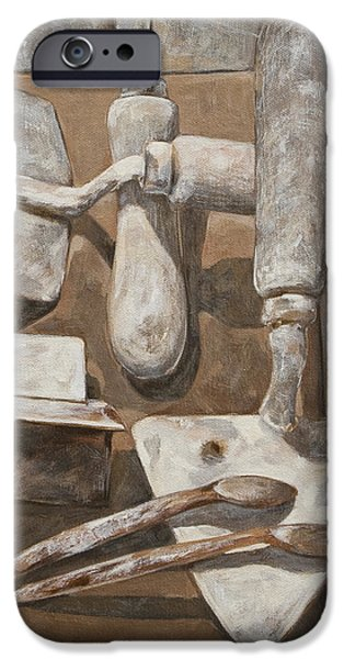 Plasterer's tools 2 iPhone Case by Anke Classen