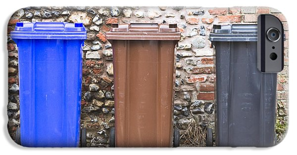 Bins iPhone Cases - Plastic bins iPhone Case by Tom Gowanlock