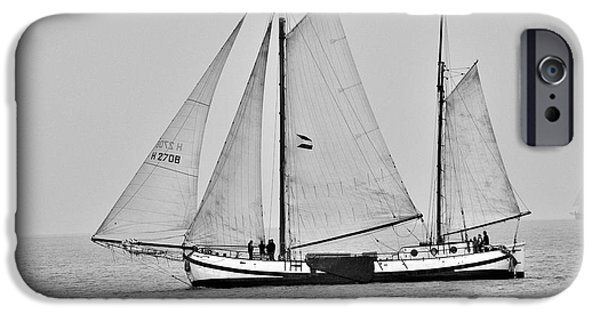 Sailboats iPhone Cases - Platbodem iPhone Case by Jim Chamberlain