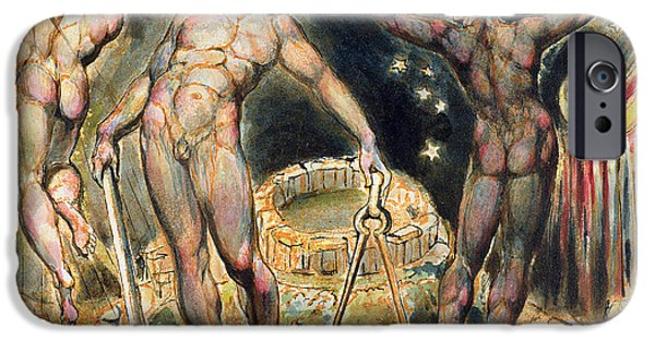 William Blake iPhone Cases - Plate 100 from Jerusalem iPhone Case by William Blake