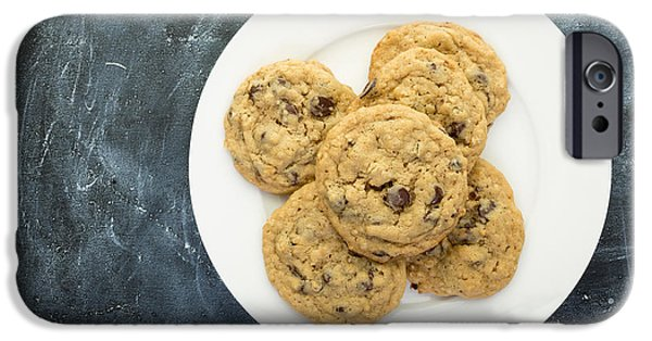 Chip iPhone Cases - Plate of Chocolate Chip Cookies iPhone Case by Edward Fielding