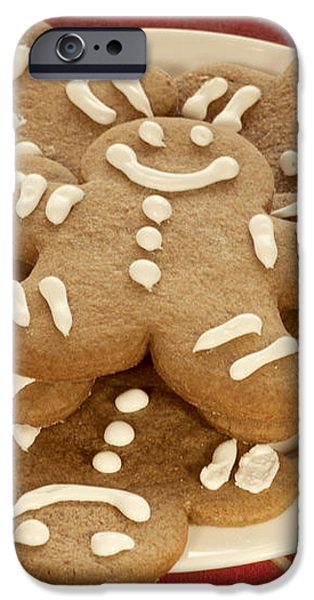 Plateful of Gingerbread Cookies iPhone Case by Juli Scalzi