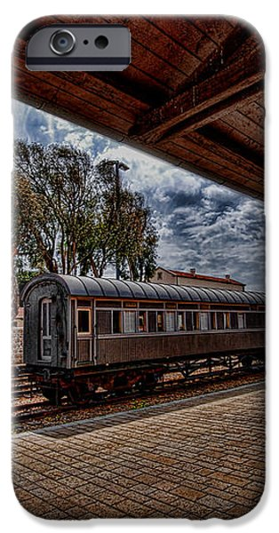 platform view of the first railway station of Tel Aviv iPhone Case by Ron Shoshani