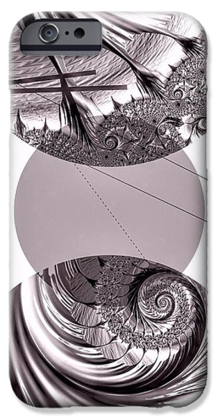 Abstract Digital Art iPhone Cases - Platinum Pearl iPhone Case by Susan Maxwell Schmidt