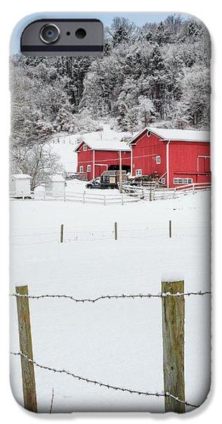 Platt Farm Square iPhone Case by Bill  Wakeley