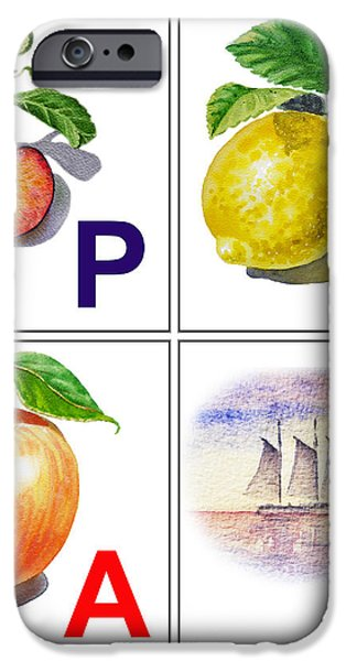 PLAY Art Alphabet for Kids Room iPhone Case by Irina Sztukowski