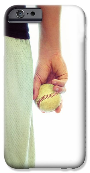 Mounds iPhone Cases - Play Ball iPhone Case by Birgit Tyrrell