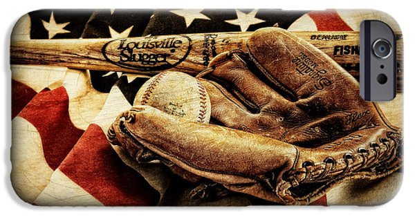 Baseball Glove iPhone Cases - Play Ball iPhone Case by Ken Smith