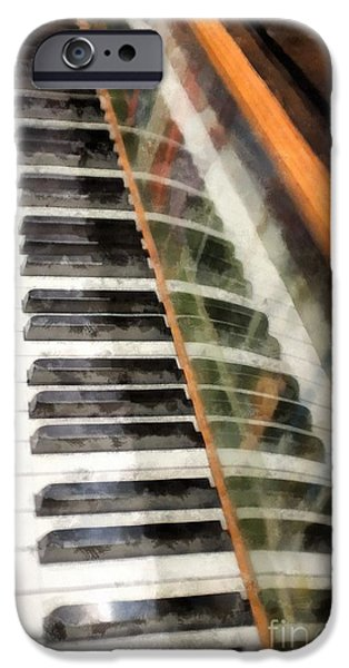 Piano Photographs iPhone Cases - Play It Again Sam iPhone Case by Edward Fielding