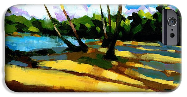 Tropical Paintings iPhone Cases - Playa Bonita 2 iPhone Case by Douglas Simonson