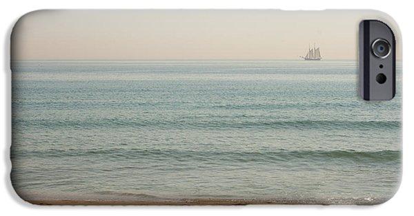 Pirate Ship iPhone Cases - Playa de St Sebastia iPhone Case by Devan M