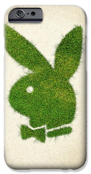 Waste iPhone Cases - Playboy Grass Logo iPhone Case by Aged Pixel