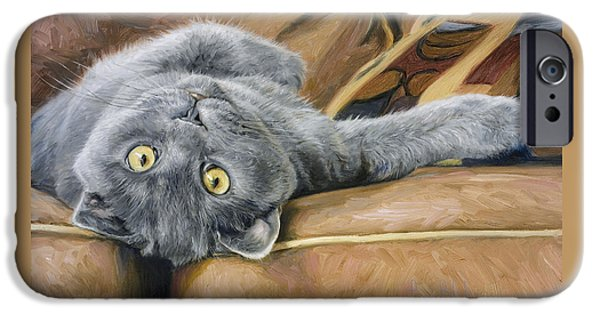 Gray Hair iPhone Cases - Playful iPhone Case by Lucie Bilodeau