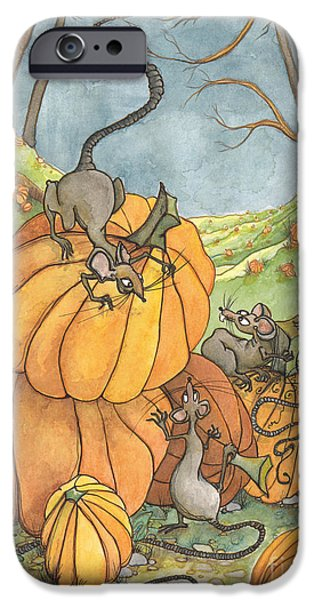 Fall Scenes iPhone Cases - Playful Rats iPhone Case by Priscilla  Jo