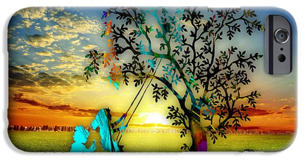 Color iPhone Cases - Playful Sunset iPhone Case by Marvin Blaine