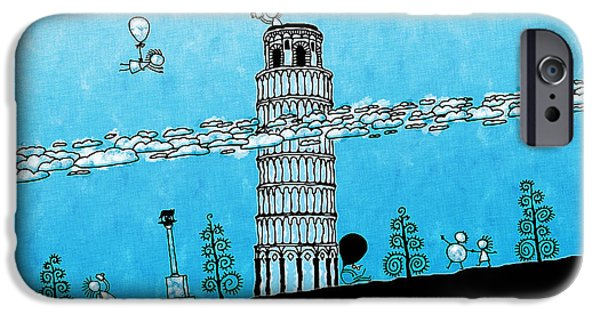 Animation iPhone Cases - Playful Tower of Pisa iPhone Case by Gianfranco Weiss