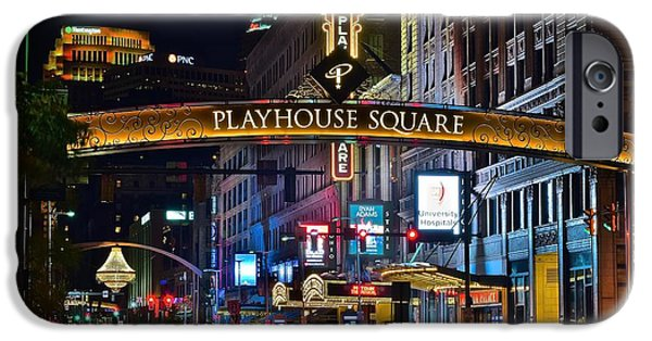 Lebron James iPhone Cases - Playhouse Square iPhone Case by Frozen in Time Fine Art Photography